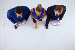 Бизнесмены стоя совместно - topview Стоковое Изображение RF