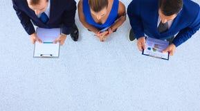 Бизнесмены стоя совместно - topview Стоковая Фотография RF