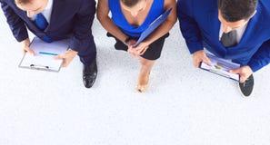 Бизнесмены стоя совместно - topview Стоковое фото RF