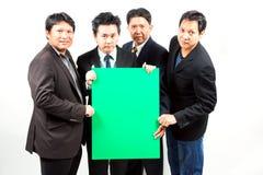 Бизнесмены с знаменем Стоковые Изображения RF