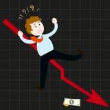 Бизнесмены терпеть неудачу Стоковое Фото