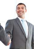 Бизнесмены трястия их руки после встречи Стоковая Фотография RF