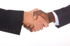 Бизнесмены трястия руки Стоковое Фото