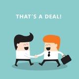 Бизнесмены тряся бизнесменов рук делая a Иллюстрация вектора