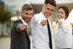 Бизнесмены указывая на вас Стоковое Изображение RF