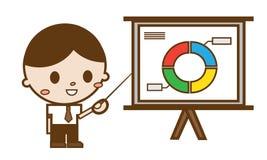 Бизнесмены указывая на доску диаграммы Иллюстрация вектора