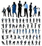 бизнесмены установленных силуэтов Стоковая Фотография RF