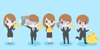 Бизнесмены шаржа Стоковые Изображения