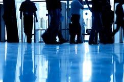 бизнесмены silhouette гулять Стоковое Изображение