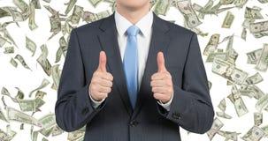 Бизнесмен давая большой пец руки вверх стоковые фото