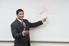 Бизнесмен давая представление Стоковая Фотография RF