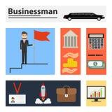Бизнесмен, аксессуары бизнесмена иллюстрация штока