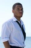 бизнесмен афроамериканца вскользь Стоковое Изображение RF