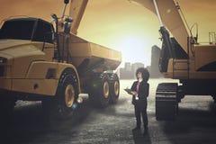 Бизнесмен Афро в руднике стоковая фотография rf