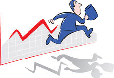 Бизнесмен бежать прочь Стоковая Фотография RF