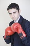 бизнесмен бокса Стоковые Фото