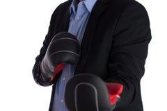 Бизнесмен бокса Стоковое фото RF
