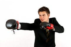 бизнесмен бокса Стоковая Фотография RF