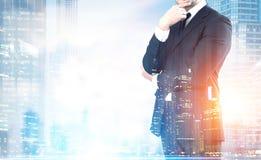 Бизнесмен большого города Стоковое фото RF