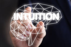 Бизнесмен включает интуицию Стоковые Изображения RF