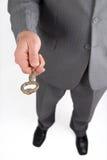 бизнесмен вручая ключевой успех Стоковое Изображение RF