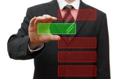 Бизнесмен выбирая вне коробку от группы. Подготавливайте для текста образца Стоковое Фото