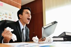 Бизнесмен выкрикивает стоковое изображение rf