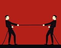 Бизнесмен вытягивая веревочку Стоковое Изображение