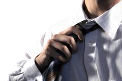 бизнесмен вытягивая связь Стоковое Фото