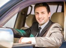 Бизнесмен в автомобиле стоковая фотография rf