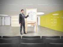 Бизнесмен в встрече Стоковые Изображения RF
