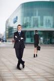 Бизнесмен в городе Стоковая Фотография RF