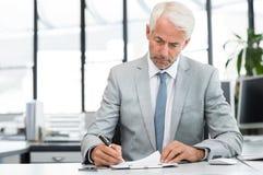 Бизнесмен в деятельности офиса Стоковое Изображение RF