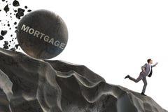Бизнесмен в концепции дела займа задолженности Стоковая Фотография RF