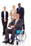 Бизнесмен в кресло-коляске стоковое фото