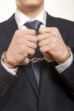 Бизнесмен в наручниках Стоковая Фотография RF