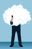 Бизнесмен в облаке Стоковое Изображение