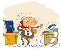 Бизнесмен в офисе Стоковая Фотография