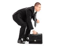 Бизнесмен в позиции wrestling sumo Стоковое Изображение RF