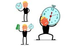 Бизнесмен в работе времени Стоковые Фотографии RF