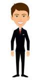 Бизнесмен в черной куртке Стоковые Фотографии RF