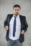 Бизнесмен герой стоковое изображение