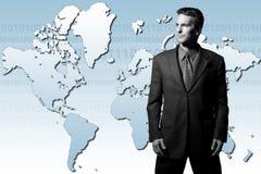 бизнесмен гловальный Стоковые Фото