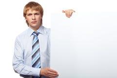бизнесмен давая представление Стоковая Фотография