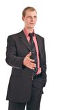 бизнесмен дает руку Стоковое Изображение RF
