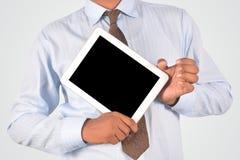 Бизнесмен держа цифровой ПК таблетки, изолированное очень professiona Стоковое Изображение