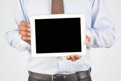 Бизнесмен держа цифровой ПК таблетки, изолированное очень professiona Стоковые Фото