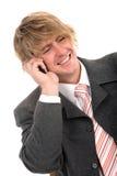 бизнесмен его телефон Стоковое Изображение RF