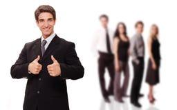 бизнесмен его успешная команда Стоковые Фото