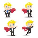 Бизнесмен действует как супермен иллюстрация вектора